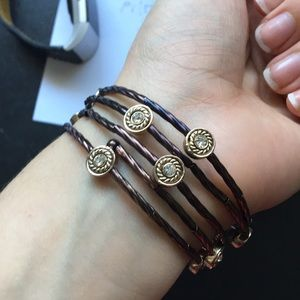 Brown and gold bracelet